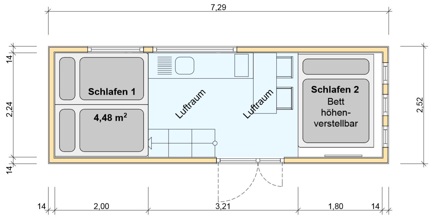 freiRAUM Tiny House Grundriss OG Heinzes Haus